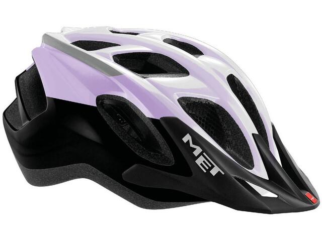 MET Funandgo Cykelhjelm, purple/black/white metallic